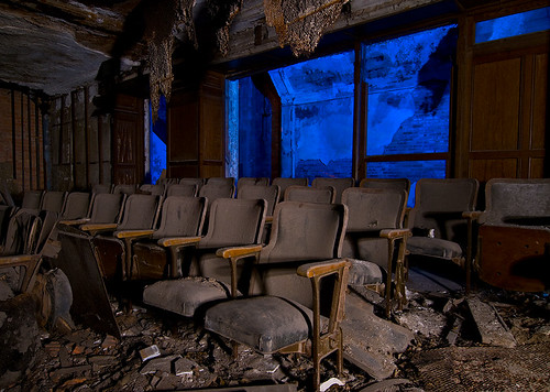city abandoned church night theater first indiana gary methodist