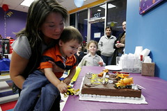 noa makes a wish and blows out the birthday candles …