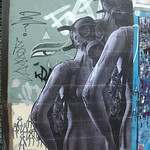 Mike Marcus - gas mask woman: London street art