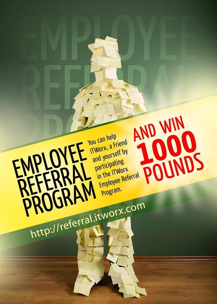 employee referral program poster