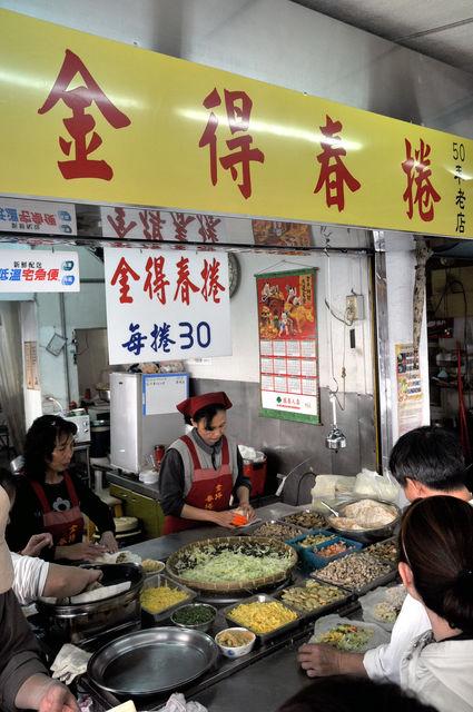 台南永樂市場旁金得春捲
