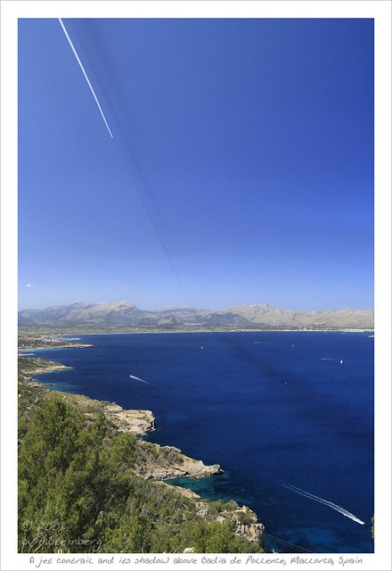 Contrail Shadow above Mallorca