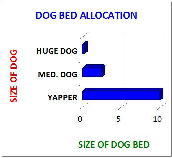 dog bed graph