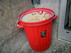 waste containment, waste container, red, waste,