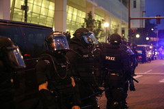 Police at riot