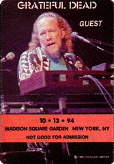 Grateful Dead Backstage Pass 10 13 94 Madison Square Garden New York City Flickr Photo