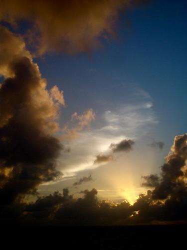 ocean sunset kiribati runintherain