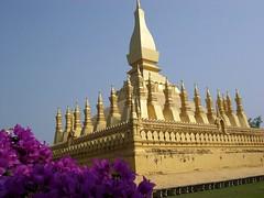 Laos-Vientiane   Stupa/Tempel