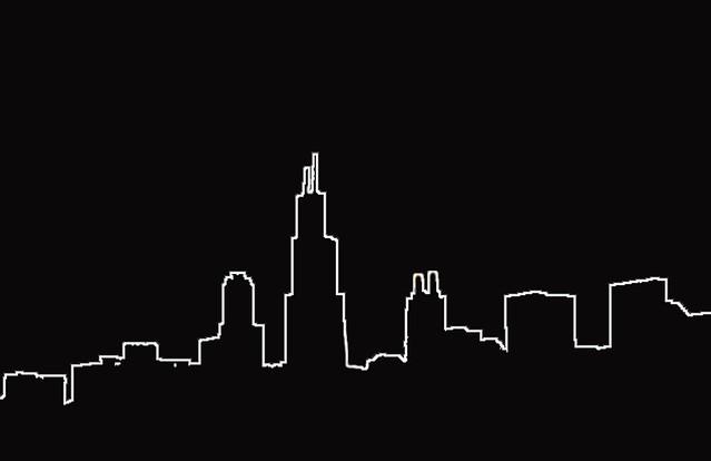 city skyline outline simple - photo #20