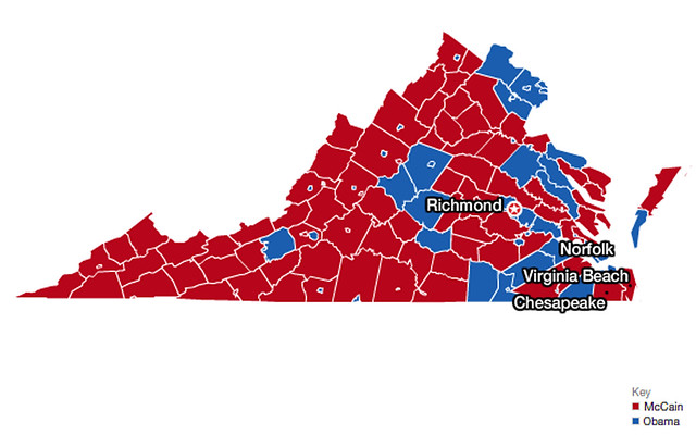 Virginia Presidential Election Map  Flickr  Photo Sharing