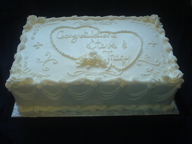 Sheet Cake Designs For Wedding Shower : Wedding Half Sheet Cake Ideas Bridal shower ...