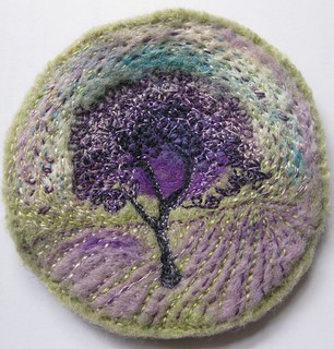Purple  Embroidery Tree