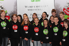 Polish children chorale at UN Climate Conference center