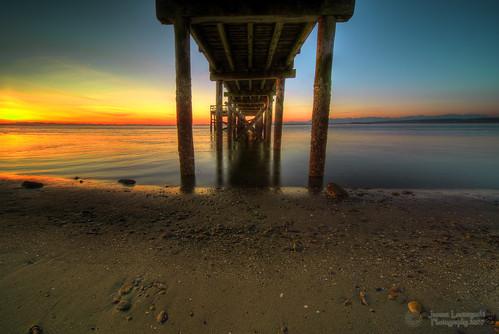 sunset beach geotagged pier bravo under surrey crescent whiterock sigma1224mm hdr pictureperfect iwantmore janusz leszczynski 14334 infinestyle theunforgettablepictures geo:lat=49059378 geo:lon=122883695