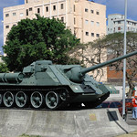 This is the tank Fidel Castro rode into Havana