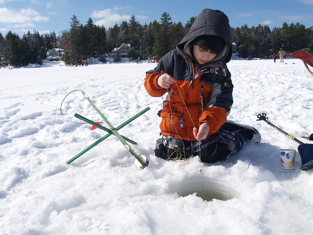 Cub scout ice fishing derby flickr photo sharing for Ice fishing derby
