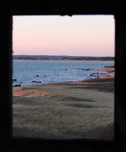 ocean sunset tower water island coast massachusetts westport gooseberry watchtower waterscape gooseberryisland