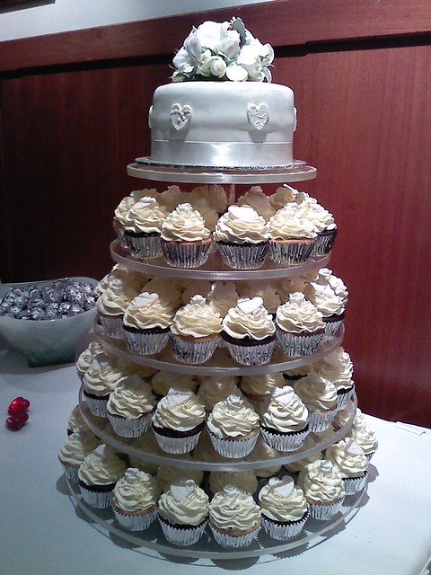 white wedding cupcake tower flickr photo sharing