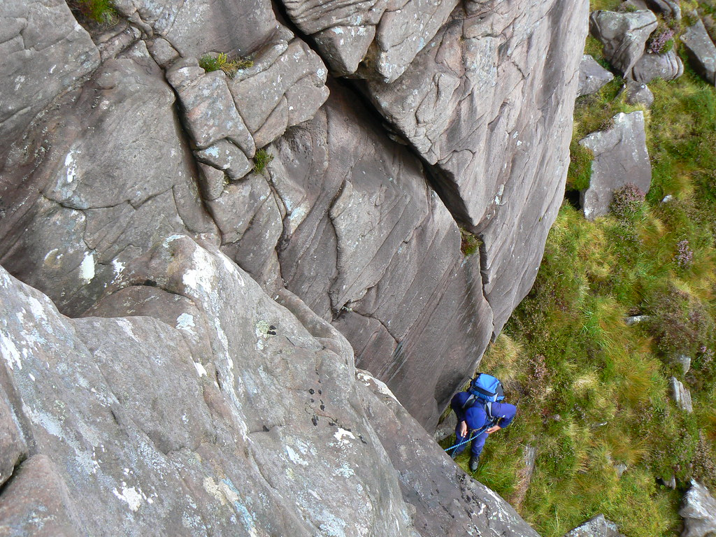 Scrambling on Beinn Bhan