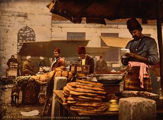 Cook in the rue de Stamboul, Constantinople, Turkey, ca. 1895