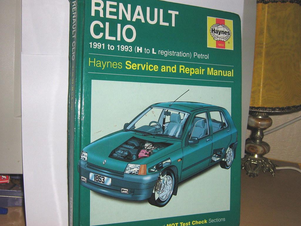 Renault Clio Owners Workshop Manual 1991 to 1993 Haynes (petrol)
