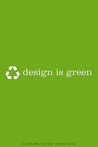 Design is green for iPhone