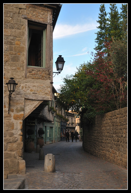 Narrow street in Carcassonne