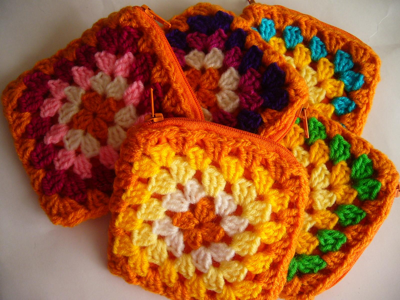 Monederos tejidos en crochet - Imagui