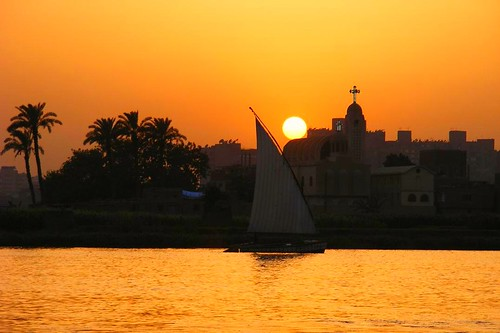 trees sunset tree church river gold boat fishing egypt palm nile holy cairo egyptian مصر القاهرة