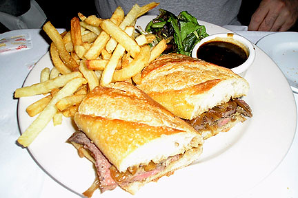 ... dip sandwich with fries at Brasserie Les … | Flickr - Photo Sharing