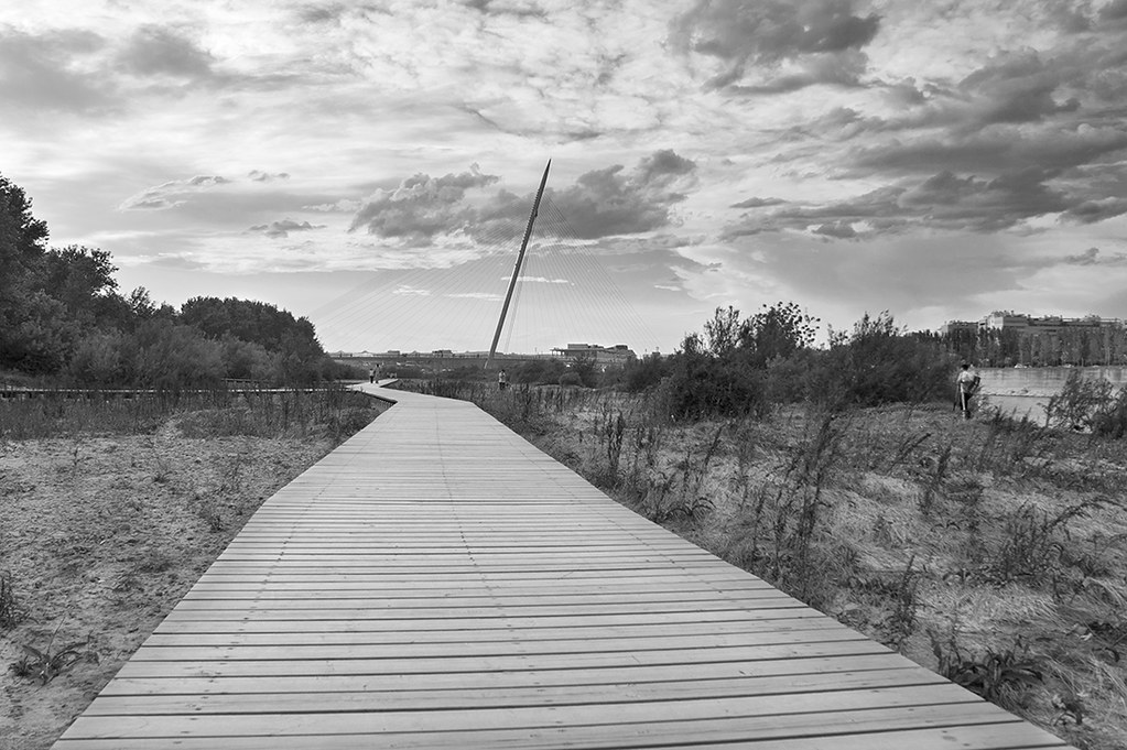 A la pasarela en b&n / To the footbridge in b&w