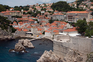 Water viewed from Dubrovnik city wall