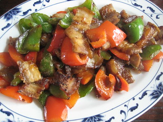 stir fried pork with peppers