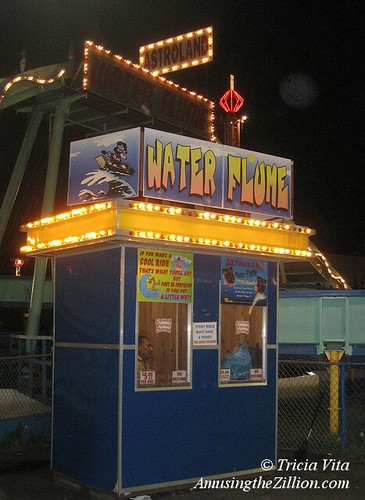 Water flume ticketbooth
