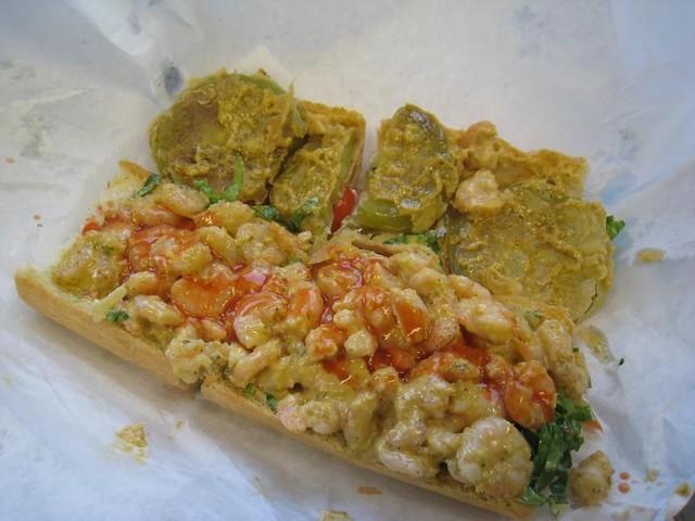 Fried Green Tomato And Shrimp Remoulade Po Boy Recipes — Dishmaps