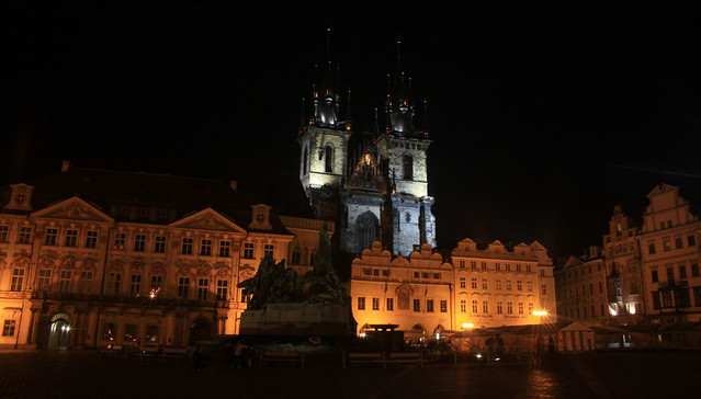 Old Town Square, night, Prague, Praha, Czech Republic