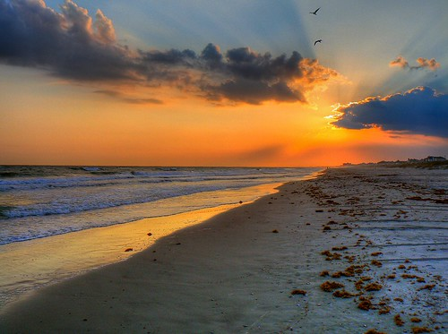 sunset beach nc atlantic carolina hdr crepuscular 3px