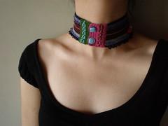 Mysterious ... Freeform Crochet Necklace