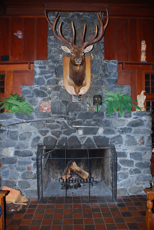 Elk mount fireplace - photo#30