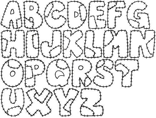 Letras moldes abecedario - Imagui