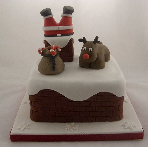 Santa stuck in chimney cake flickr photo sharing Santa stuck in chimney cake