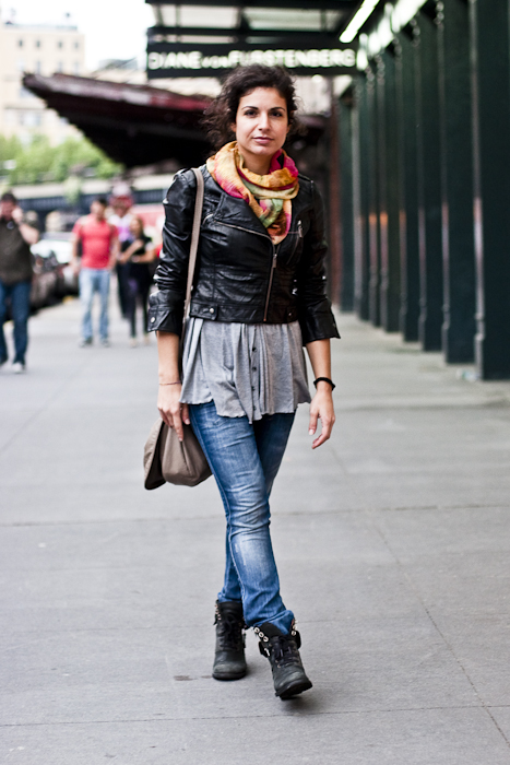 Summer Scarf Street Fashion Meat Packing District New