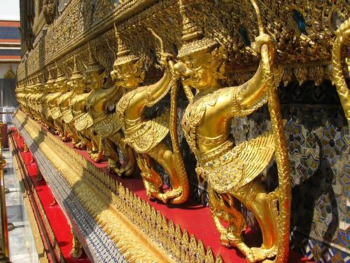Detalle exterior del Templo del Buda Esmeralda