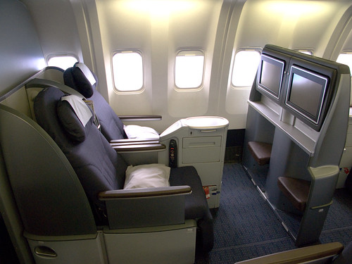 United business class sleeper seats (B767)