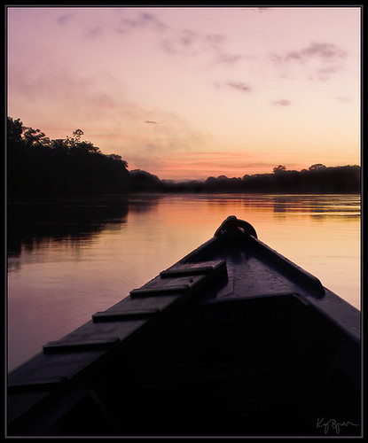 morning pink light peru sunrise boat kaj amazonas bjurman