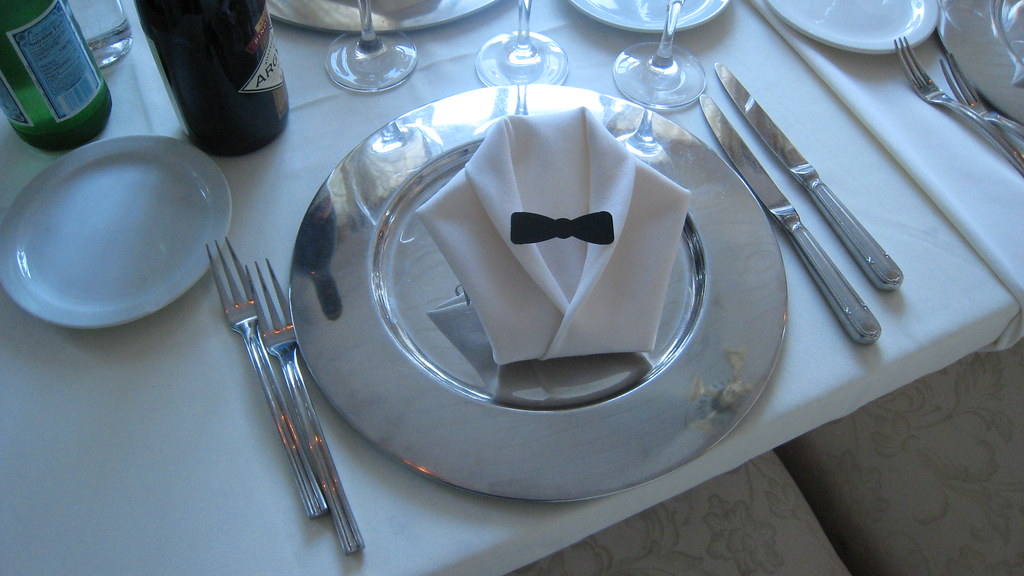 napkin folds at the Anaheim White House