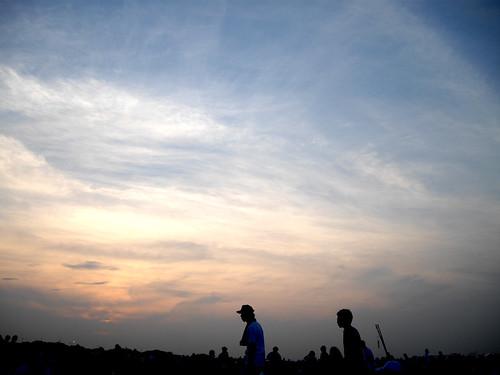 sunset / edogawa fireworks 2008 - 無料写真検索fotoq