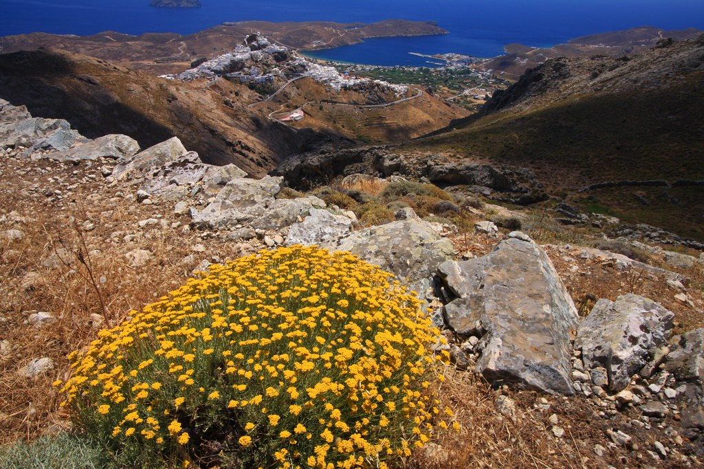 View of Chora, Serifos island