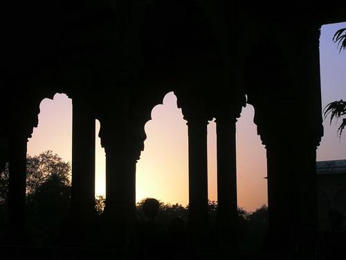 sunset india dehli