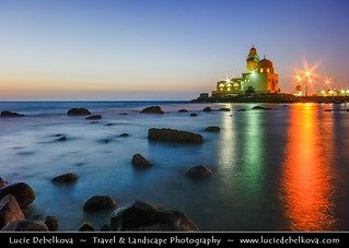 Saudi Arabia - Jeddah - Mosque on the Corniche of the Red Sea during Dusk - Twilight - Blue Hour - NIght
